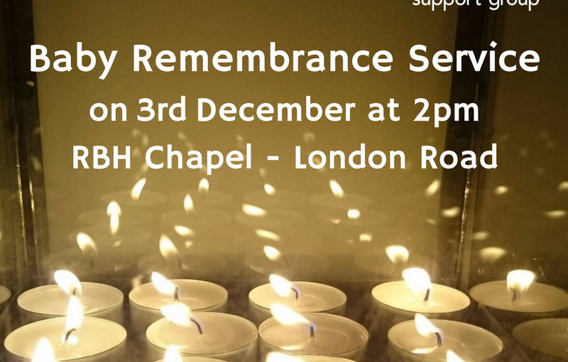 Baby Remembrance Service 3rd Dec 2017
